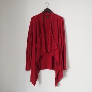 Torrid open front red cardigan